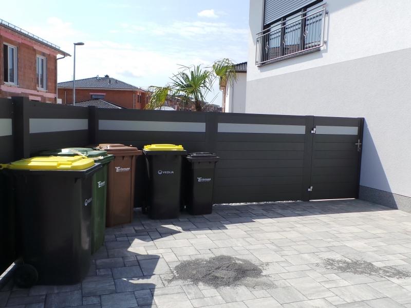 Alu Wind- und Sichtschutz Zaun als Bausatz